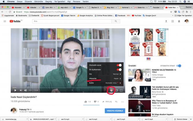 İşitme Engelliler İçin YouTube Videolarına  Türkçe Altyazı Nasıl Eklenir?